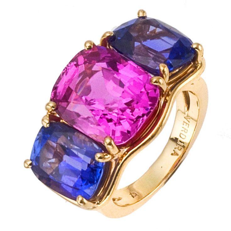 VERDURA Three-Stone Sapphire Ring