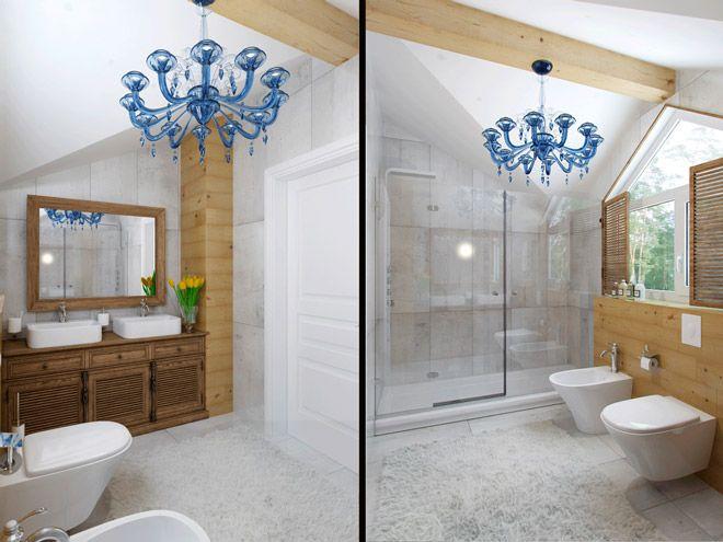 Ванная комната. Дизайн интерьера коттеджа на горнолышном курорте «Игора», 100 кв.м.
