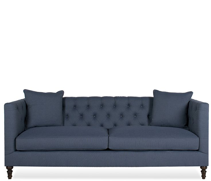 Boston Interiors Gray Lennon Sofa Boasts Traditional Styling Stocked In A Durable Microfiber Feather Toss Pillows And Dark Finish Wooden Legs