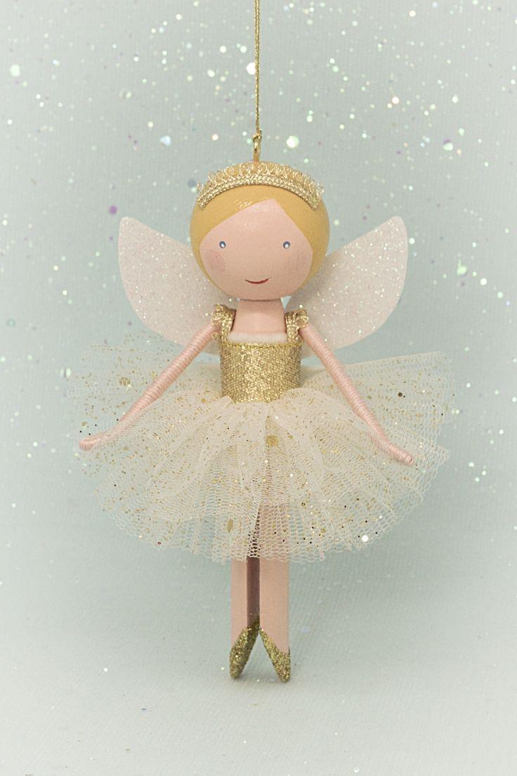 Peg doll, clothespin doll fairy | Flossy Bobbins Makery