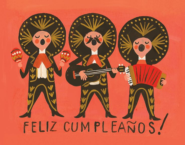 Feliz Cumpleanos Band card by Quill and Fox on Postable.com