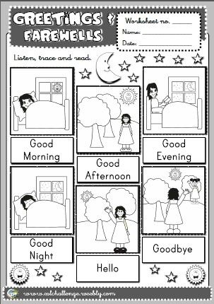 Greetings - picture dictionary
