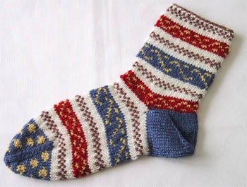 Ukrainian Socks Nancy Bush, 'Folk Socks'(Interweave Press,1994)