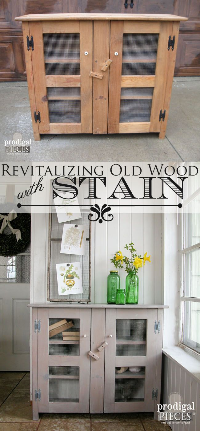 diy furniture refinishing projects. Update Old Wood With Stain ~ Easy DIY. Diy Furniture ProjectsFurniture RefinishingRepurposed Refinishing Projects