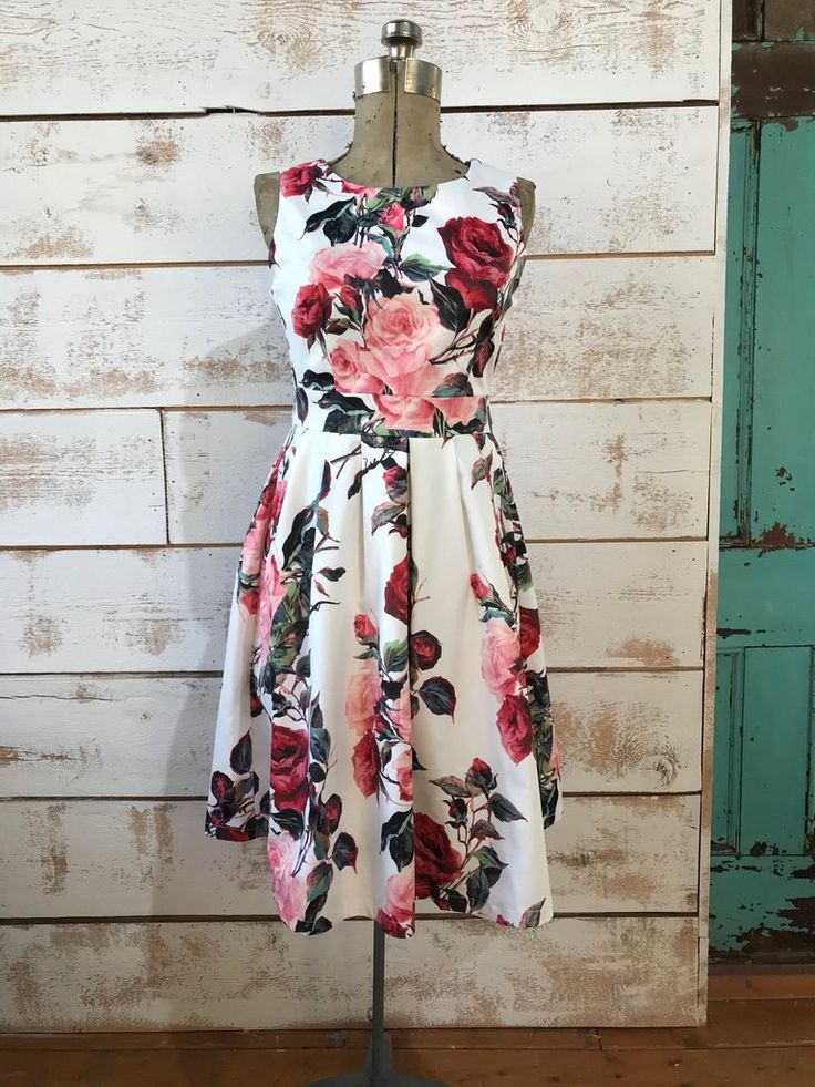 Floral Rose Dress  The Passionate Home  Langley