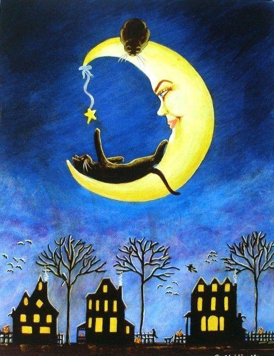 Котэ на луне