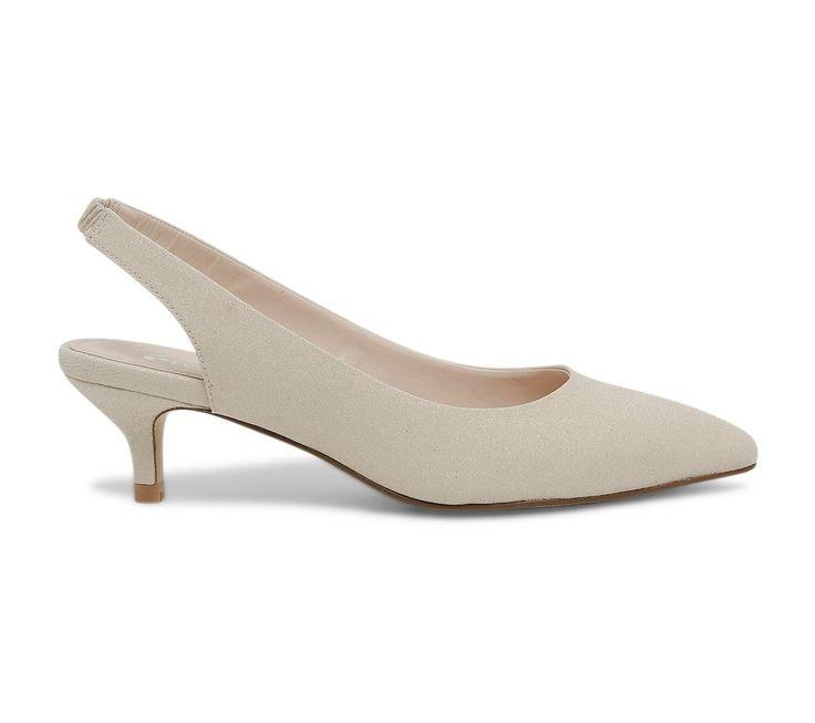 Escarpin ouvert beige pailletté - Escarpins - Chaussures femme