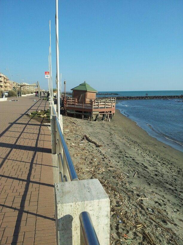 Italy, Ostia Lido beach