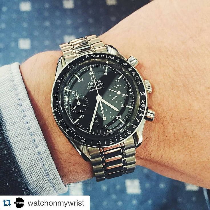 #Repost @watchonmywrist #Regram of @arran_cross. The #Omega Speedmaster Reduced looking stunning on the wrist. #womw #watchonmywrist #watchcollecting #watches #wristshot #instawatch #wis #swissmade #wruw #luxurywatches #watchfam by mikebrice