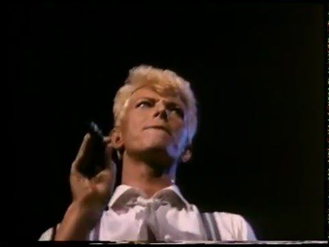 David Bowie sings 'Imagine' - a tribute to John Lennon....The last show of the Serious Moonlight tour, 8th December, 1983, was the 3rd anniversary of John Lennon's death.
