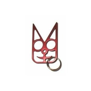 Safety Cat Women's Self Defense Keychain - Red