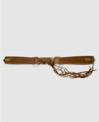 Cinturón marrón con apliques dorados