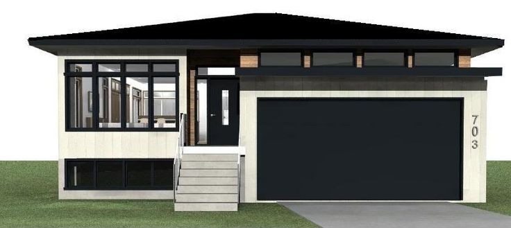 Contemporary Still House Plans Exterior Rendering Of