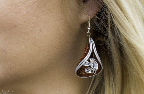 Recycled earrings Eco friendly jewelry aluminium earrings