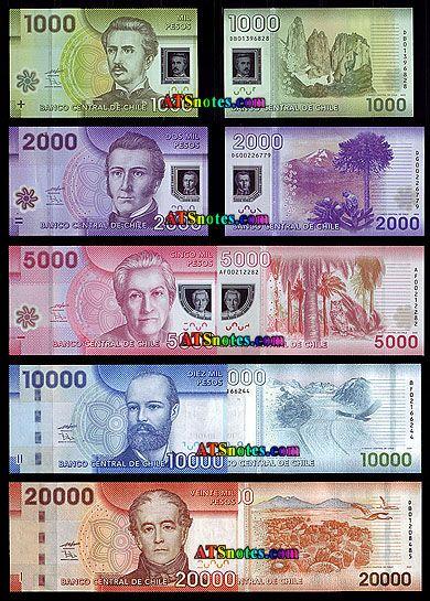 Moneda de Chile | billetes Chile - Chile Catálogo de papel moneda y moneda chilena