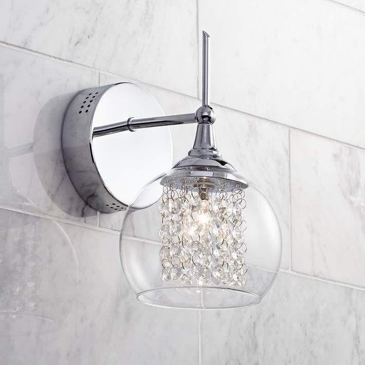 "Possini Euro Design Crystal Rainfall 10"" High Wall Sconce - #T4355 | Lamps Plus"