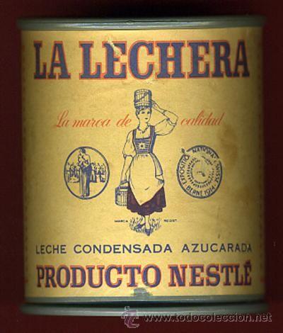 CAJA O CAJITA PUBLICIDAD, BOTE LECHE CONDENSADA LA LECHERA, NESTLE , ORIGINAL, ANTIGUA, H (Botellas, Cajas y Envases - Cajas y Cajitas Metál...