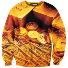 Trinidad James once said    Gold all in my chain  Gold all in my ring  Gold all in my watch  This crewneck offers all gold everything  Our full print crewneck sweatshirts are uniquely crafted using a special sublimation technique to transfer our full