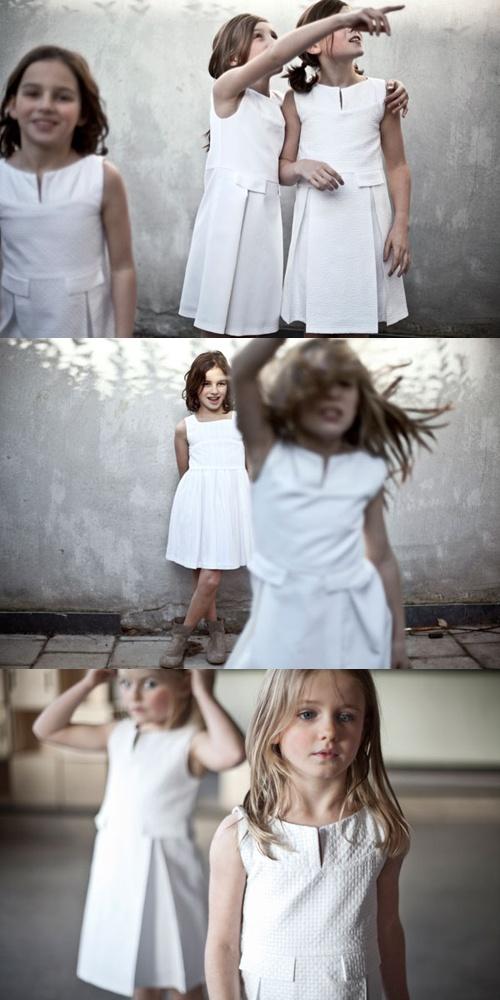 Schone witte eenvoudige jurkjes