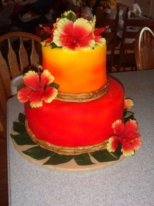 77 Best Hawaiian Birthday Cake Ideas Images On Pinterest
