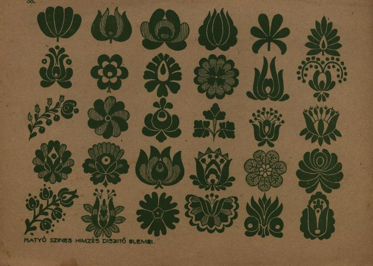 Hungarian embroidery tulip pattern (possible tattoo idea)