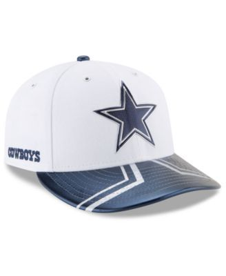New Era Dallas Cowboys 2017 Low Profile Draft 59FIFTY Cap - White/Navy 7 1/8