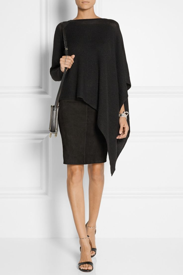 Asymmetric poncho in a different colour this would be dramatically stunning...love it