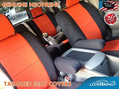 Coverking Neoprene Front Orange Seat Covers for Toyota Tacoma 2016 Double Cab