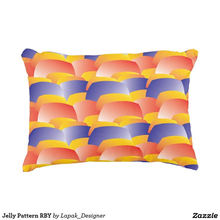 Jelly Pattern RBY Decorative Pillow