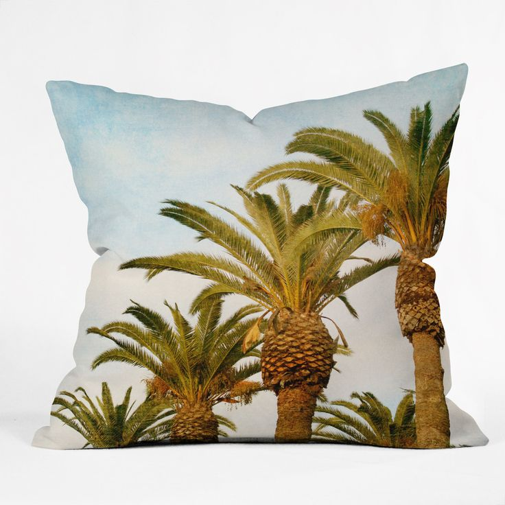 Catherine McDonald Some Place Sunny And Warm Throw Pillow | DENY Designs Home Accessories