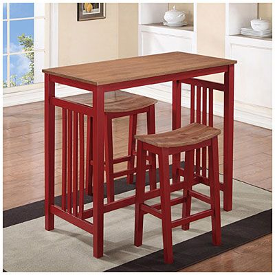 3 Piece Red Breakfast Dining Set At Big Lots....would Make