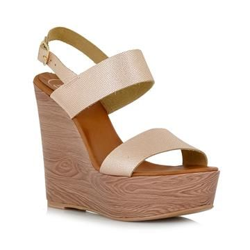 #Shoes #Pink_Gold #Wedges #TsakirisMallas