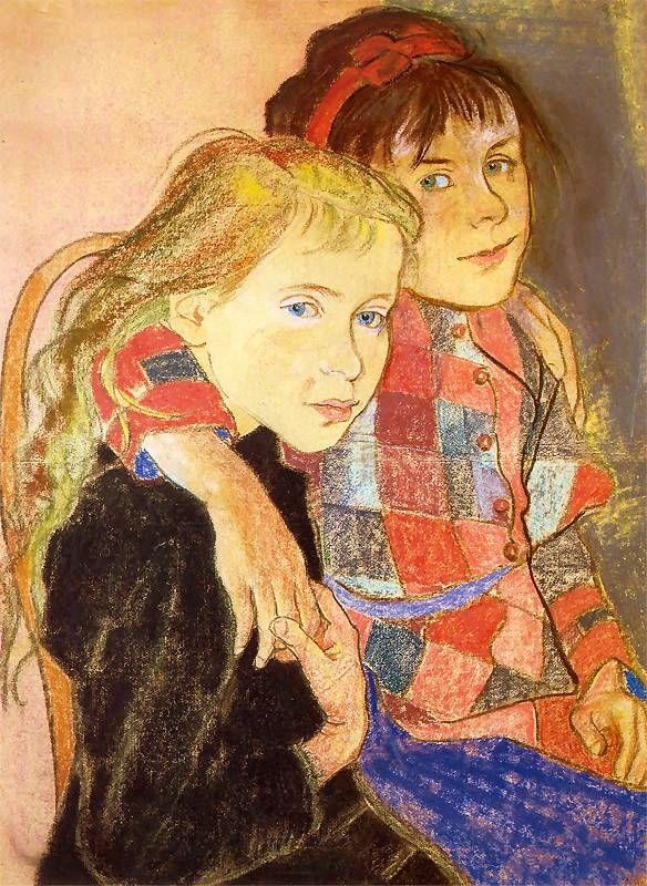 Stanisław Wyspiański, Two girls, 1894