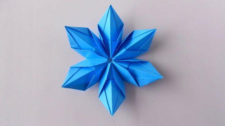 Снежинка из бумаги Оригами снежинки на Новый год 2018 https://www.youtube.com/watch?v=4n0HOJGJL_I