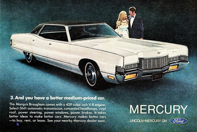 1971 Mercury Marquis Brougham 4 Door Hardtop Imagine