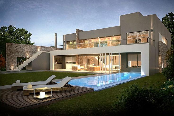 Casa estilo Actual Racionalista del estudio INARCH Arquitectura + Construcción -