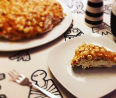 Færøsk karamelkage/æblekage