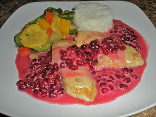 Chef JD's Southwestern Cuisine: Monterey Jack Chicken Filets with Pomegranate Beur...