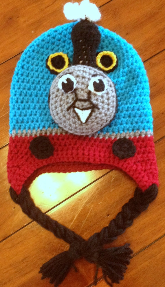 Free Crochet Hat Pattern For Thomas The Train : Thomas The Train crochet hat :) Products I Love ...