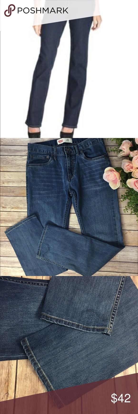Levi's 511 Slim Woman's Straight Leg Jeans Adorbs! Great Condition, pre-owned Levi's 511 Slim  Woman's Jeans Size 18R, W29 L29  No noticeable Flaws  Please see measurement photo to ensure fit prior to purchase. Levis 511 Jeans Straight Leg