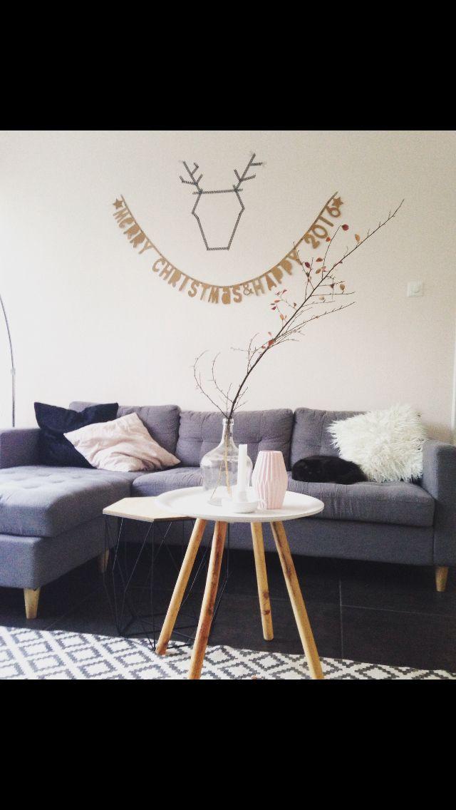 Home interior lover christmas letter banner scandinavian interior