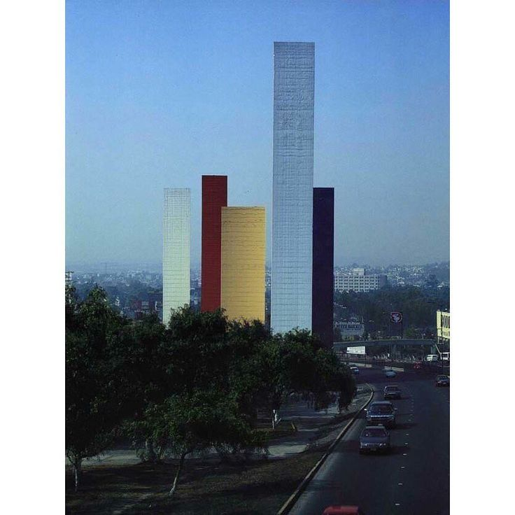 "13.9k Likes, 58 Comments - NOWNESS (@nowness) on Instagram: ""Satellite Towers, Mexico City. 1957–58 by Luis Barragan and Mathias Goeritz"""