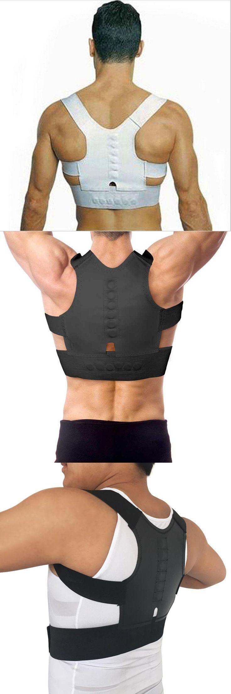 [Visit to Buy] Othopedic Corset Men Back Brace Support Posture Corrector Straight Back Shoulder Support Posture Corset Back Pain B001 #Advertisement