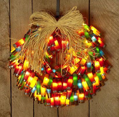 Another shotgun-shell wreath: http://girlsguidetoguns.com/2012/12/05/christmas-craft-shotgun-shell-wreath/