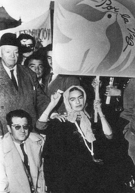 Frida Kahlo & Diego Rivera Protesting the Ouster of Guatemalan President Jacobo Arbenz Guzman by the CIA_July 2 1954