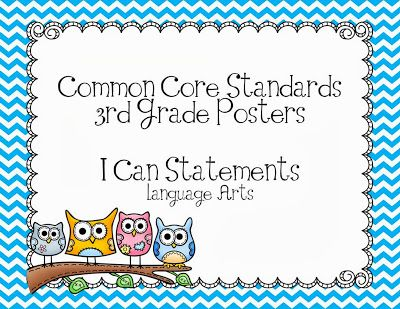 Third Grade Common Core Posters-Owls $4