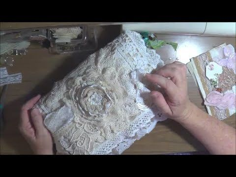 Lace/Fabric Book Tutorial - Two Methods :) - YouTubeGreat instructions for ironing the pages