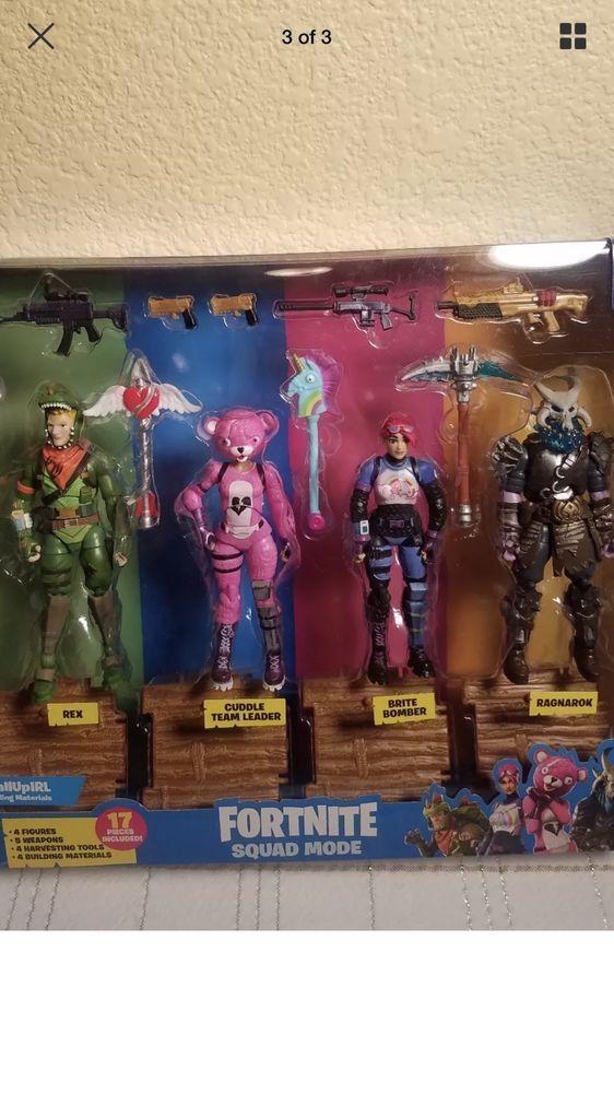 Fortnite Action Figure 4 Squad Mode Set In Box Rare Brand New Epic