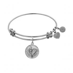 Silver Music Charm Angelica Bangle Bracelet