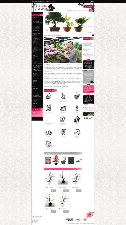 Maquette site lejardindulevant.fr - creer site internet pour vente arbres, plantes japonais